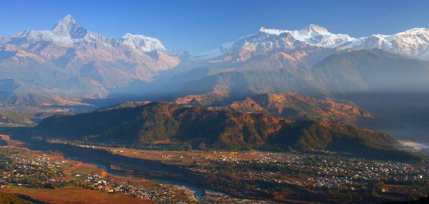 View from Sarangkot during the pokhara tour