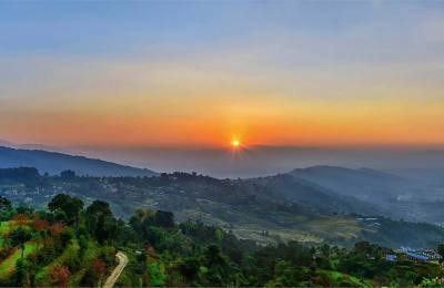Sun set view from Nagarkot